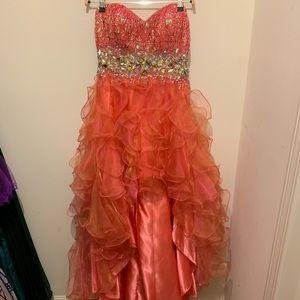 Formal dress: high-low